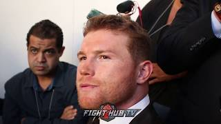 CANELO ON KOVALEV SAYING HE'S BETTER THEN WARD