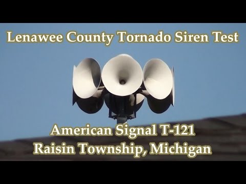 Raisin Township, MI ASC T-121 Siren Test 4-14-16