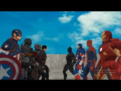 Captain America vs Ironman vs Winter Soilder vs Black Panther vs Antman vs Spiderman