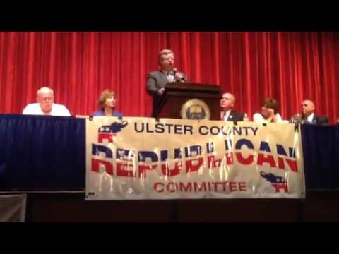 James Quigley accepting nomination talks about election as ulster town supervisor