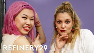 LIVE Drew Barrymore Talks All Things Beauty | Beauty With Mi | Refinery29