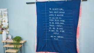 DIY Love Letter Blanket - Home & Family