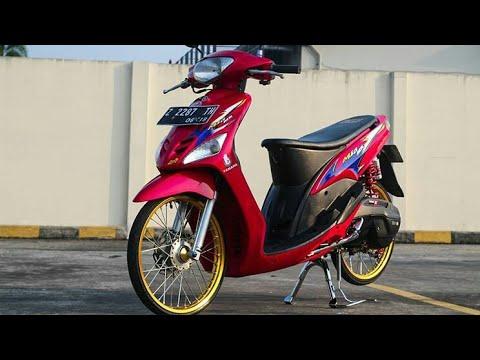 22 Gambar Modifikasi Motor Mio Smile Simple Motor Biru Warna