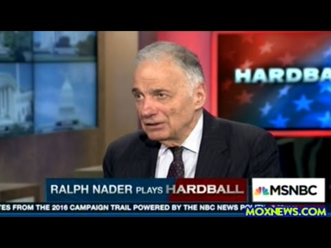 Ralph Nader Makes Clear There Is NO WAY He Is Voting For Hillary!