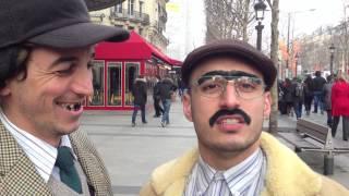 Ro et cut sur les Champs-Elysées