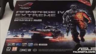 ASUS Rampage IV Extreme BF3 Edition RoG Motherboard LGA 2011 Unboxing & First Look - ITA