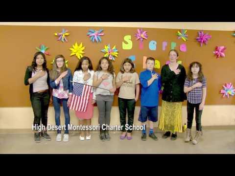 One Nevada Morning Pledge - High Desert Montessori Charter School Group 3