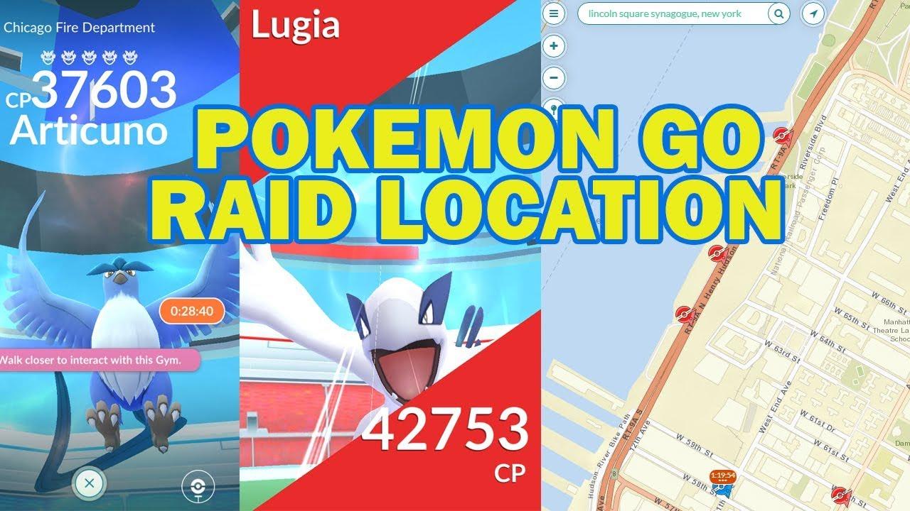 Pok Mon Go S Raid Map How To Find Legendary Pokemon Raid