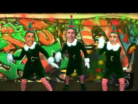 funny karzai bush obama blair dance