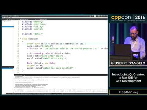 "CppCon 2016: Giuseppe D'Angelo ""Introducing Qt Creator: a fast IDE for C++ development"""