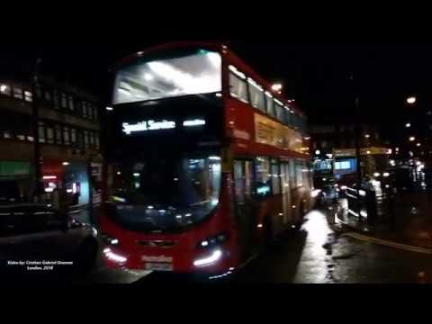 Amazing Nightlife in London. Driving through Southgate and Cockfosters.