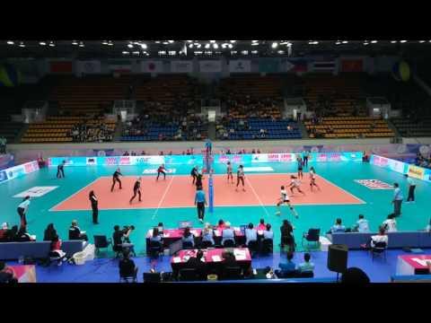 Иранская сборная по волейболу. Фрагмент игры.