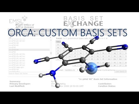 Avogadro with ORCA Tutorial: Custom Basis Sets