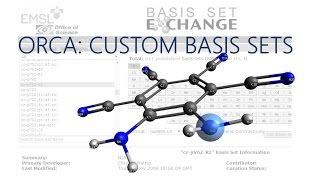 Avogadro with ORCA Tutorial: Custom Basis Sets