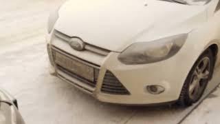 Ford Focus 3, 2 литра, холодный запуск, -35, звук двигателя