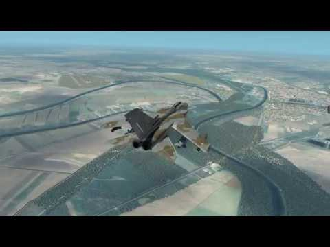 X Plane 11 - Debrecen to Sármellék - Military VFR flight over Hungary