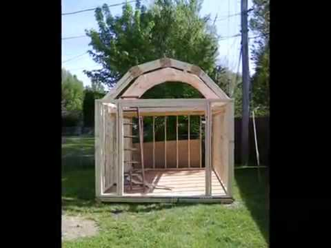 How To Build A Gambrel Shed Plans Blueprints Youtube