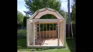 How To Build A Gambrel Shed (plans + Blueprints)