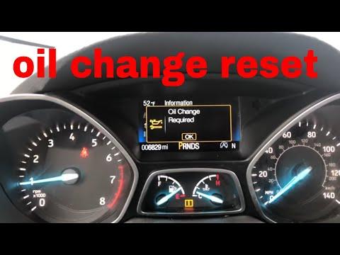 Ford Escape oil change reset.