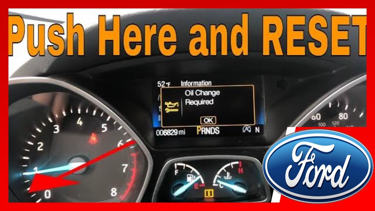 Ford Escape Oil Change Reset Youtube