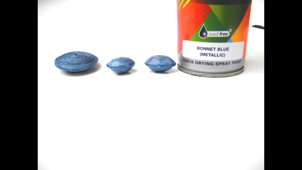 how to paint paper beads with metallic blue spray paint youtube. Black Bedroom Furniture Sets. Home Design Ideas
