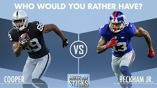Who Would You Rather Have: Amari Cooper or Odell Beckham? | Move the Sticks | NFL