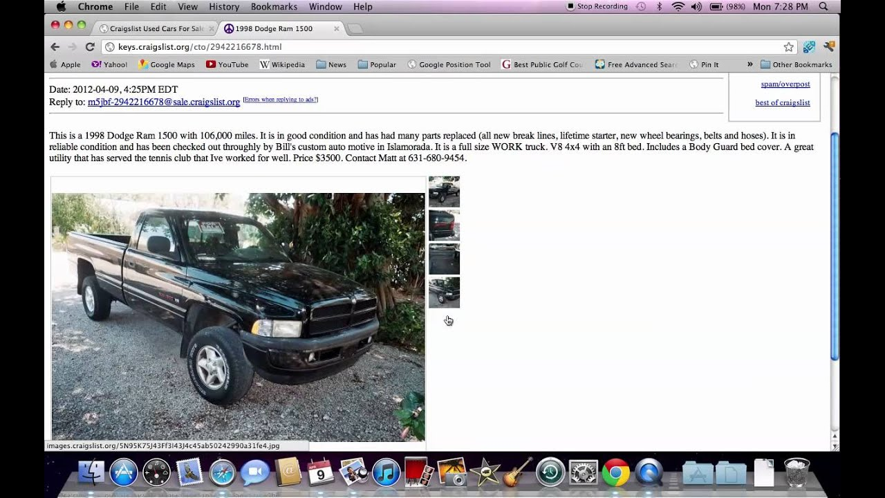 Craigslist florida keys used cars and trucks for sale by owner youtube