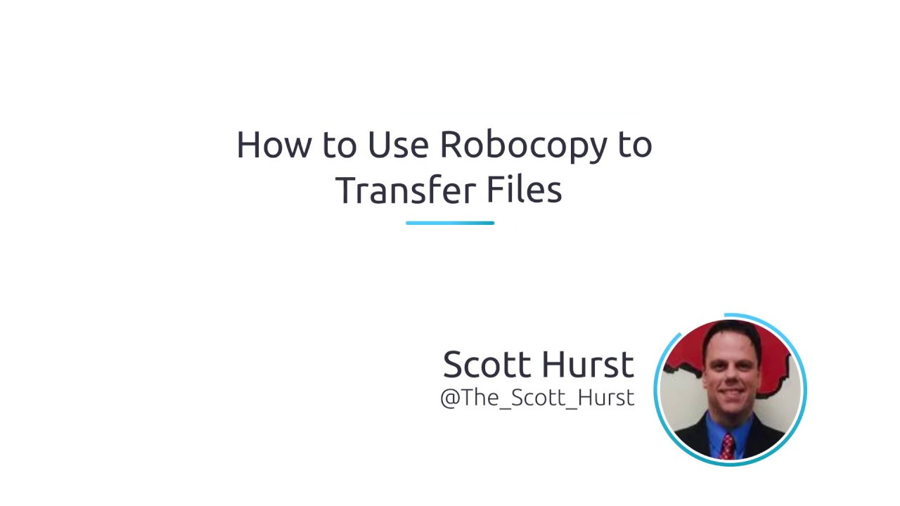 How To Use Robocopy To Transfer Files