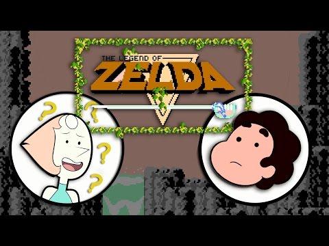 """Steven explains """"The Legend of Zelda"""" to Pearl"""