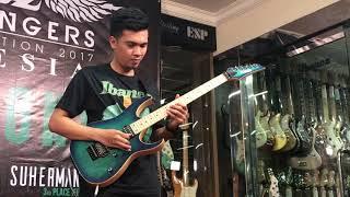 1st Place Winner of Ibanez Flying Fingers Indonesia 2017 Akbar Ajie