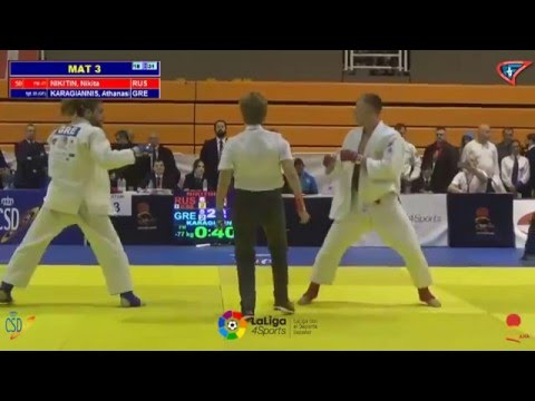 Final junior world ju jitsu championship U21 -77 2016  Karagiannis GR - Nikitin RUS