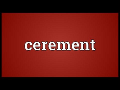 Header of cerement