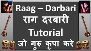 Raag Darbari Kanada - Jo Guru Krapa Kare Bandish with Swar Vistaar