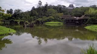Walking Around Japanese Garden Genkyuen - Hikone City, Shiga - Japan Travel