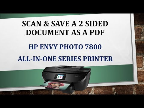 HP Envy Photo 7855 : Scan a 2 sided document and save as PDF document