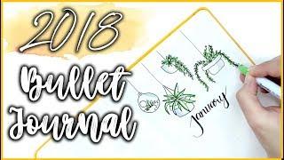 MY BULLET JOURNAL SETUP 2018 | PLAN WITH ME | RawBeautyKristi