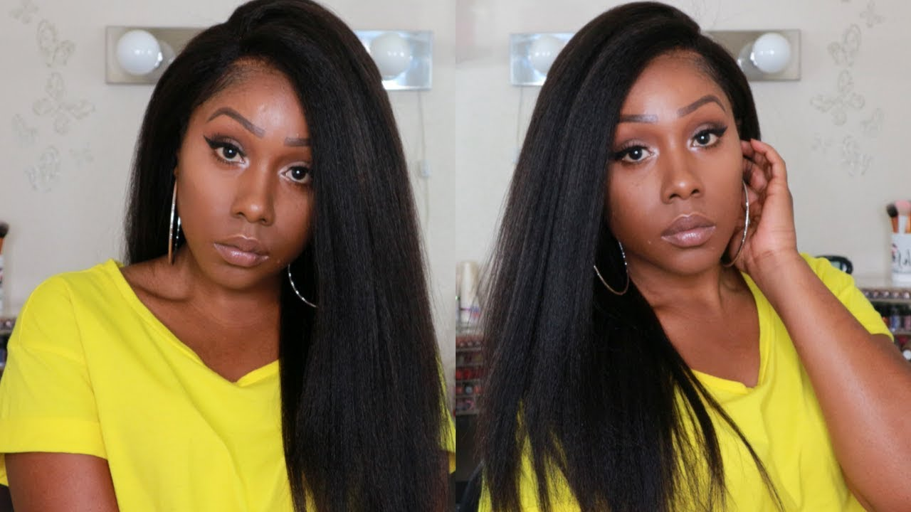 62dd729748e Super Natural Looking Kinky Straight Hair | OMGQueen 360 Wig (BTW03)