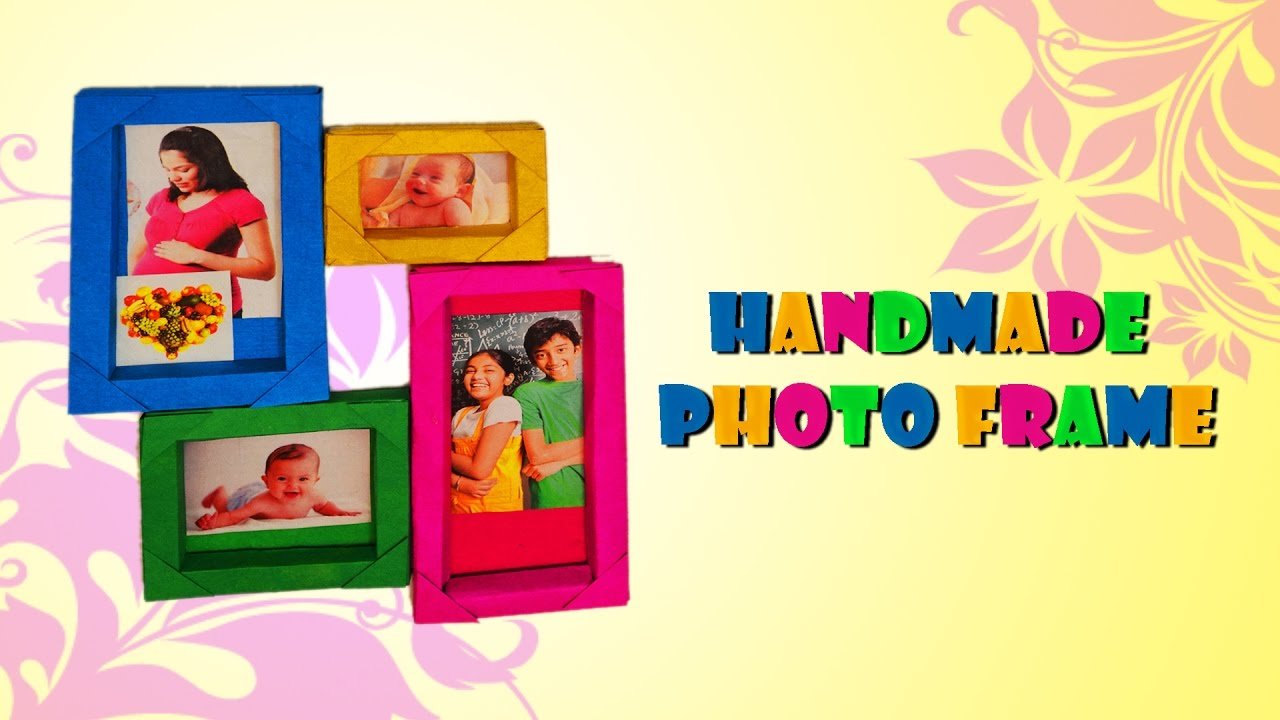 How to make Handmade Photo Frame | Paper & craft - YouTube