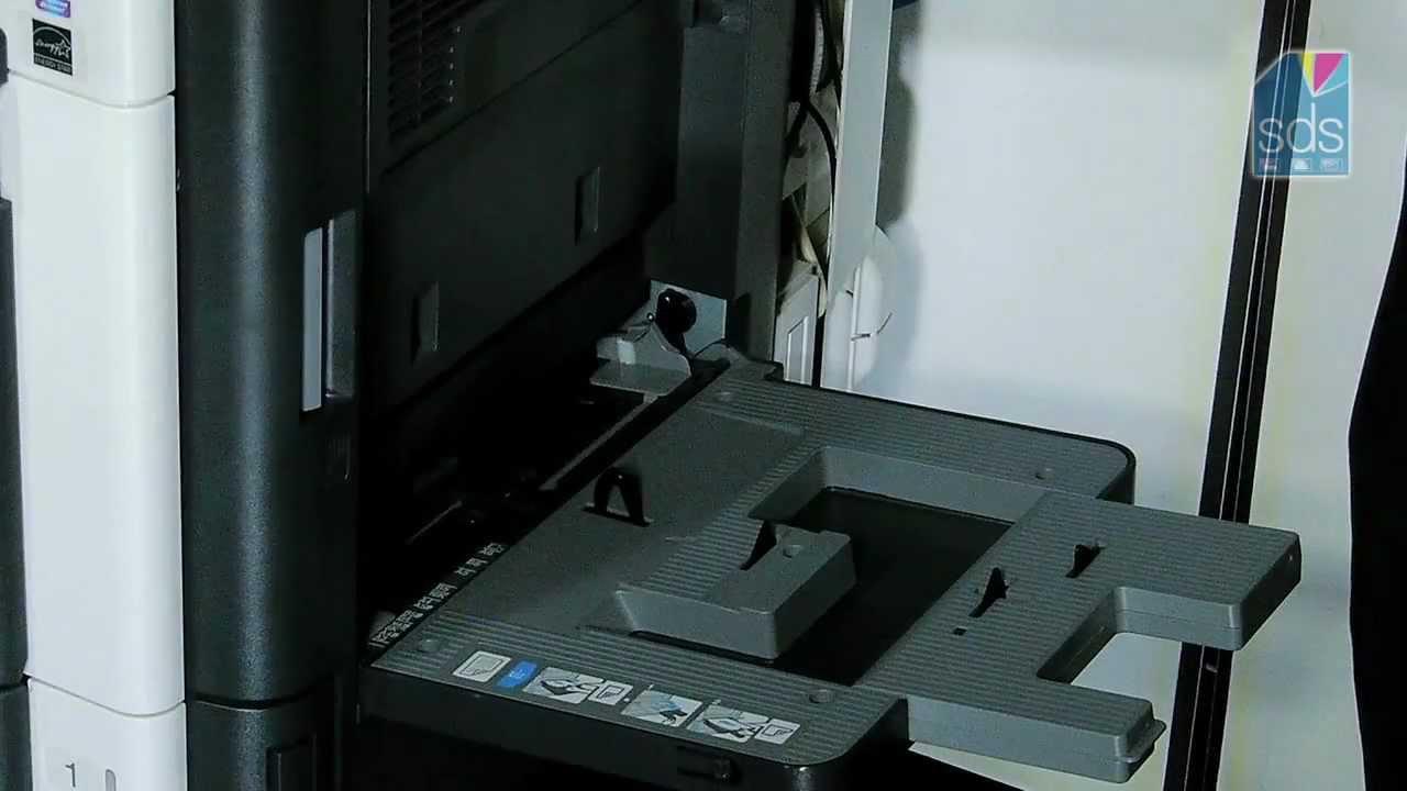 Using The Bypass Tray Bizhub Konica Minolta Printers Youtube