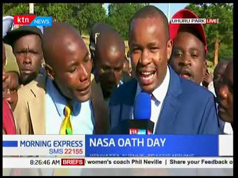 Current situation at Uhuru Park ahead of NASA swearing in