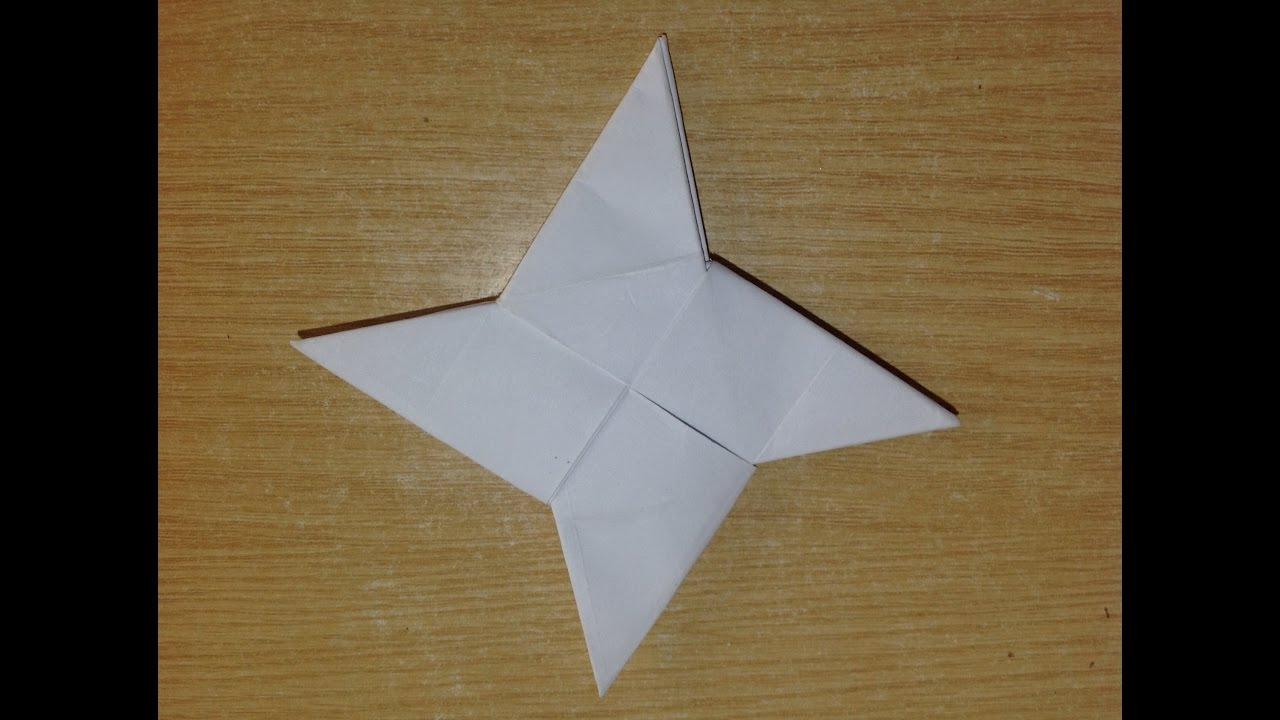 Origami 3 Pointed Ninja Star! Youtube, Origami Point Ninja Star ... | 720x1280