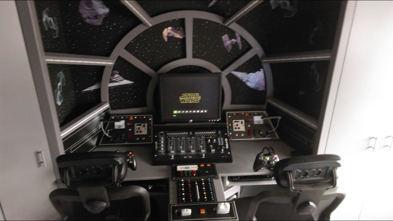 Star Wars Decorations For Bedroom How To Make A Themed Bedroom Star Wars Millennium Falcon Cockpit
