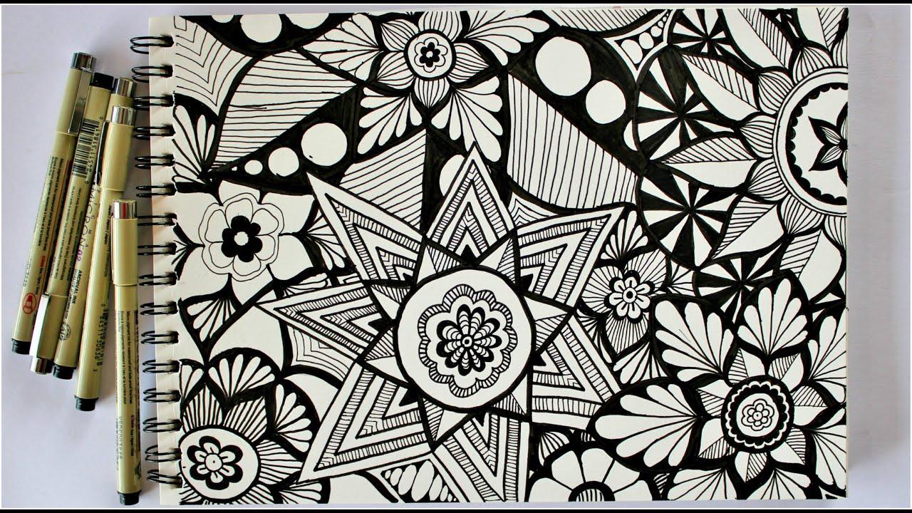 Zentangle art || Doodle patterns || Zen-doodle