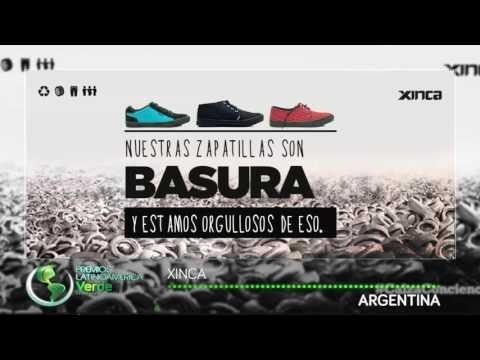 Zapatos elaborados con material reciclado, ARGENTINA