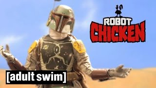 4 classic boba fett moments   robot chicken star wars   adult swim