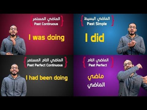 شرح كل أزمنة الماضي في الانجليزي All Past Tenses in English