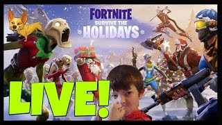 Fortnite Survive the Holidays - Tyrin Plays Fortnite Xmas/Winter Update - Family Friendly Gaming