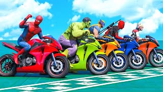 Superhero Bike Stunt GT Racing - Mega Ramp Games (clip 59) screenshot 5