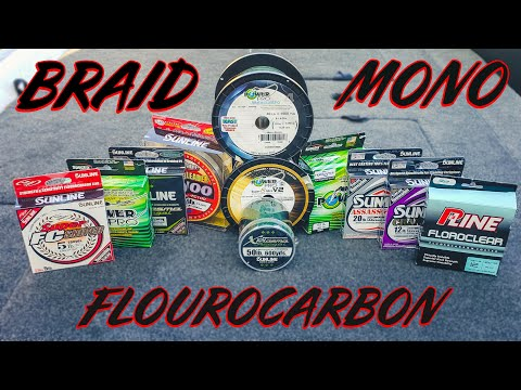 Which Fishing Line? Braid Vs Fluorocarbon Vs Mono