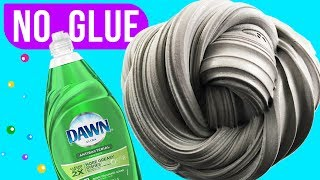 NO GLUE SLIME TEST, Mixing 7 Dish Soap Slime Recipes